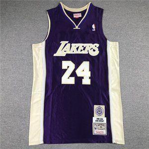 LA Lakers #24 Kobe Bryant Retirement Yellow Jersey